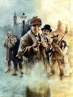 Arthur Conan Doyle y su personaje Sherlock Holmes Sherlock Fandom, Sherlock John, Fantasy Tv Series, Sci Fi Fantasy, Elementary My Dear Watson, Adventures Of Sherlock Holmes, Gifs, Dr Watson, 221b Baker Street
