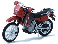Kawasaki KLR650 Diecast Model Motorcycle by Maisto 04046 This Kawasaki KLR650 Diecast Model Motorcycle is Red and features working stand, steering, wheels. It is made by Maisto and is 1:18 scale (approx. 11cm / 4.3in long).  #Maisto #ModelMotorbike #Kawasaki