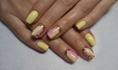 Yellow & pink ombre nails using foil :: one1lady.com :: #nail #nails #nailart #manicure