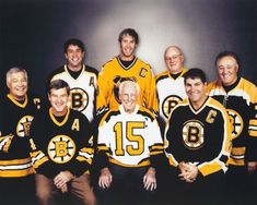 Boston Bruins from different generations. Stars Hockey, Ice Hockey Teams, Hockey Games, Hockey Players, Hockey Stuff, Sports Teams, Boston Sports, Boston Red Sox, Patrice Bergeron