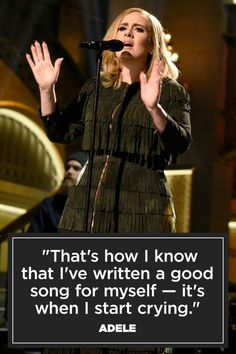 Quotes and inspiration from Celebrity QUOTATION - Image : As the quote says - Description New York Times, November 2015 Sharing is everything - We, at Quotes Daily, we think that sharing is everything, so Adele Music, Adele Songs, Love Songs Lyrics, Adele Quotes, Quotable Quotes, True Quotes, Adele Adkins, Musician Quotes, Inspirational Music