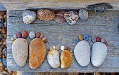 een familie voeten