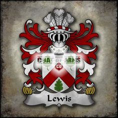 Lewis (of Abergavenny, Monmouthshire) Family Crest - Welsh Coat of Arm