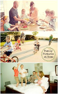 4 great ideas for the best backdrops and settings for family photos, including: at home, outdoors, urban and studio. Also some good links from this page to other family photo articles.