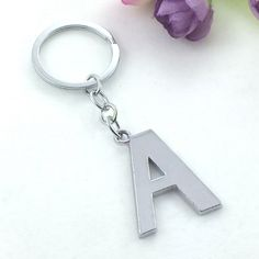 Aliexpress.com   Buy 2016 Fashion Hot Silver Plated Metal Initial Letters  Keychain Simple Alloy Letter Name Key Ring for Women and Men Gifts llavero  from ... 797d7e06f40f
