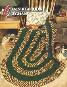 Pattern Crochet Afghan Blanket Chain by KnitKnacksCreations