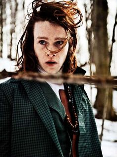 Eclectic Wooded Editorials The Caleb Landry Jones L'Uomo Vogue Shoot is Fearlessly Styled