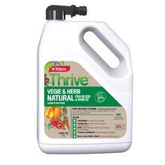 Yates Thrive Natural Vegie & Herb Hose On Liquid Plant Food Home Grown Vegetables, Root Vegetables, Types Of Herbs, Iron Plant, Plant Health, Liquid Fertilizer, Earthworms, Seaweed, Organic Gardening