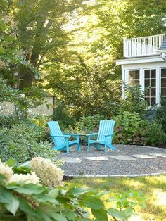 Image result for turquoise adirondack chairs in backyard pinterest