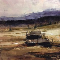 Summer Hillsides by Tibor Nagy Oil ~ 15.7 x 15.7
