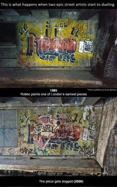 Duel de Graffeurs: Banksy vs King Robbo