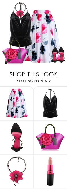 """Set 1695"" by lapshi4ka ❤ liked on Polyvore featuring Relaxfeel, Oscar Tiye, Lanvin and MAC Cosmetics"