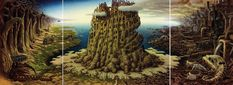 Beautiful cartoon worlds by Polish artist Jacek Yerka. Beautiful cartoon worlds by Polish artist Jacek Yerka. Hieronymus Bosch, Surrealism Painting, Art Database, Art Plastique, Les Oeuvres, Statues, Problem Solving, Fantasy Art, Art Drawings
