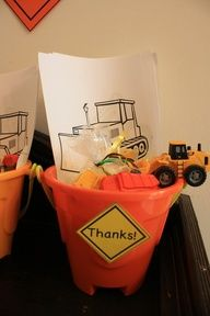 construction truck party theme - Google Search