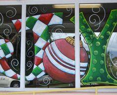 Holiday Window Painting | Denise Santos Designs