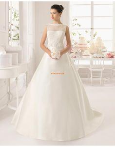 Classique & Intemporel Sans manches Naturel Robes de mariée 2015