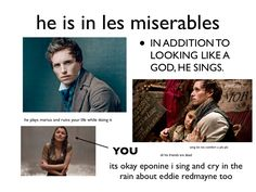 """He is in Les Miserables...Part 2 (excuse the """"omg"""" and just insert """"omigosh, LOL)"""