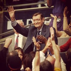 """The legendary Chick Hearn"" Best NBA announcer of all time"