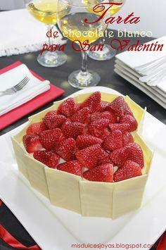 Mis Dulces Joyas: Tarta de chocolate blanco para San Valentín