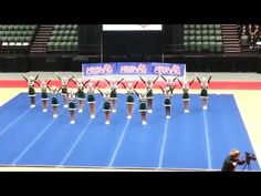 Lake Orion high school competitive cheer team at the Michigan state championship competition. Cheer Jumps, Cheer Stunts, Cheerleading, Cheer Formations, Cheer Dance Routines, Lake Orion, Cheer Coaches, Competition, Ahs