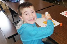 """On April 2, the three Multi-Age classrooms at Scotchtown Avenue Elementary School got together for a special """"Light It Up Blue"""" activity to celebrate Autism Awareness."""