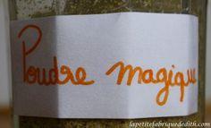 Poudre magique, substitue d'œuf et de mix gom et de gomme de guar