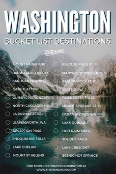 Discover ALL the best things to do in Washington state here! We're covering all corners of the state, you'll want to read this before your next adventure! Washington State Map, Washington Nationals Park, New Orleans, New York, Places To Travel, Places To See, Mount Rainier National Park, North Cascades National Park, Seattle Travel