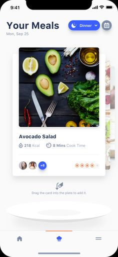 Dribbble - your_meals.png by Ionut Zamfir Ios App Design, Mobile App Design, Interface Design, Ux Design, User Interface, Ui Design Inspiration, Sketch Inspiration, Design Ideas, Mobile App Ui