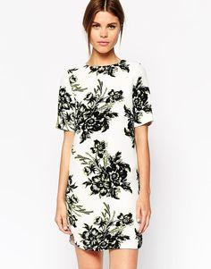 Warehouse Floral T-Shirt Dress on shopstyle.com