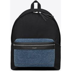 Saint Laurent Classic Hunting Backpack (1,226 CAD) ❤ liked on Polyvore featuring men's fashion, men's bags, men's backpacks and yves saint laurent