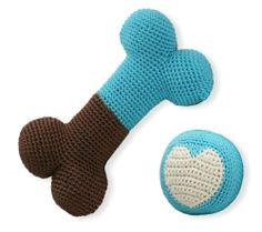 Hip Doggie Organic Cotton Crochet Dental Toy Set, Blue Bone and Blue Ball Set for Dogs  « DogSiteWorld-Store
