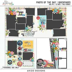 Photo Of The Day | Quickpages by Akizo Designs for Digital Scrapbooking Layout Page