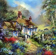 Image result for beautiful cottage paintings