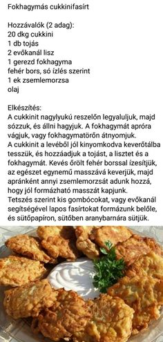 96 Diet Recipes, Vegetarian Recipes, Cooking Recipes, Healthy Recipes, Healthy Snacks, Healthy Eating, Good Food, Yummy Food, Hungarian Recipes