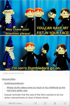 Harry Potter Puppet Pals <<< I just watched these for the first time and it was totally worth it! Harry Potter Love, Harry Potter Universal, Harry Potter Fandom, Harry Potter Memes, Harry Potter Puppets, Potter Puppet Pals, Slytherin, Hogwarts, Scorpius And Rose
