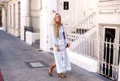 Outfit / Streetstyle Fanny Staaf, Boho Maxi dress for summer
