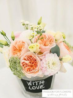 peach roses wedding flowers passion for flowers