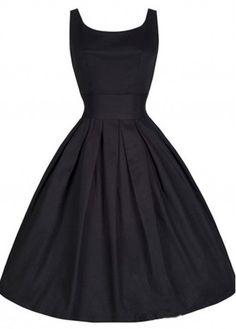 Black 50s 60s Retro Rockabilly Swing Party Dress
