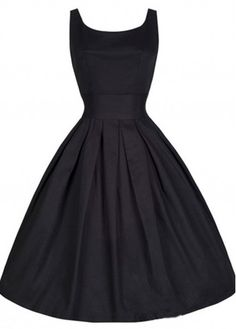 Black 50s 60s Retro Rockabilly Swing Party Dress
