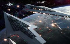 "Two Super Star Destroyers, ""Lusankya"" and ""Reaper"" Square off at the Battle of Orinda lead by Palleon it was a victory for the Empire."
