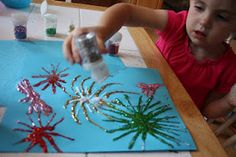 Glitter Fireworks Craft The 5th Of November, Fourth Of July, Projects For Kids, Crafts For Kids, Childminding Ideas, Guy Fawkes Night, Independence Day Parade, Fun Ideas, Craft Ideas