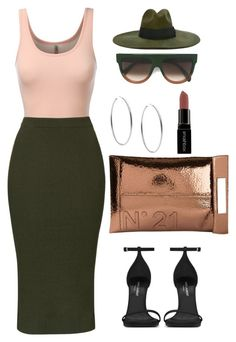 """Untitled #423"" by amoney-1 ❤ liked on Polyvore featuring J.TOMSON, Topshop, N°21, Diesel, Michael Kors, Yves Saint Laurent, CÉLINE, Smashbox, women's clothing and women"
