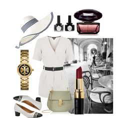 Walking down the street by cikruit on Polyvore featuring polyvore, fashion, style, Topshop, Auditions, Chloé, Tory Burch, Two's Company, Bobbi Brown Cosmetics and Ciaté