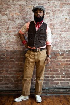 Ouigi, from The Brooklyn Circus, definitely has fascinating and effortless sense of style.  200 notes