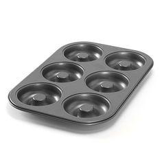 Nordic Ware 30042 6 Cavity Donut Pan, Metal