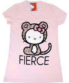 Hello Kitty Fierce Kitty Vintage Tee Shirt $28.00