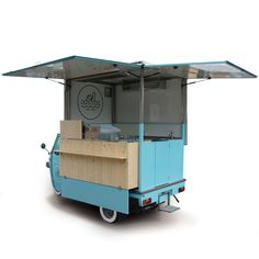 Ape Piaggio Van designed for street vending and catering. See the images online and ask for a price quote. A food truck according to your requirements >