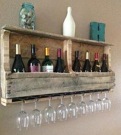 Natural Reclaimed Wood Wine Rack