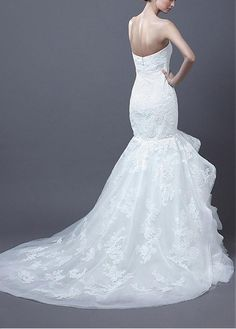 Sweetheart Sweetheart Sleeve Sleeveless Dropped Full Length Mermaid Wedding Dresses