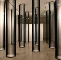 Image detail for -zilvinas kempinas columns 2006 magnetic tape installation view spencer . Column Design, Stage Design, Decoration Inspiration, Design Inspiration, Gropius Bau, Art Et Design, Instalation Art, Painting Wood Paneling, Tape Art